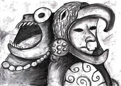 Aztec Warrior Spirit Poster by Rae Hauck