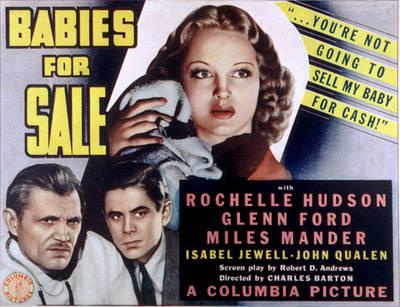 Babies For Sale, Glenn Ford Center, 1940 Poster by Everett