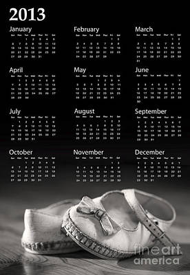 Baby Shoes Calendar 2013 Poster by Jane Rix