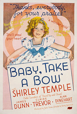 Baby Take A Bow, Shirley Temple, 1934 Poster by Everett
