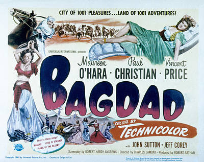 Bagdad, Maureen Ohara, Paul Christian Poster by Everett