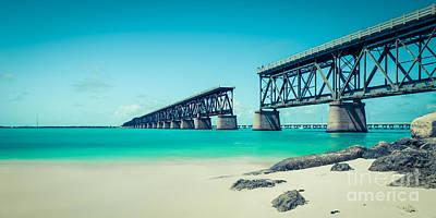 Bahia Hondas Railroad Bridge  Poster by Hannes Cmarits