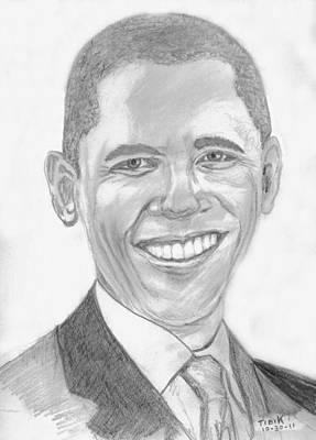 Barack Obama Poster by Tibi K