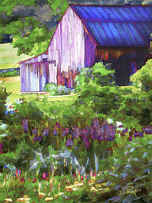 Barn In The Hollow Poster by Suni Roveto