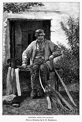 Basket Maker, 19th Century Poster by Granger