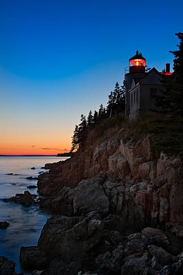 Bass Harbor Lighthouse Maine Poster by Steve Gadomski
