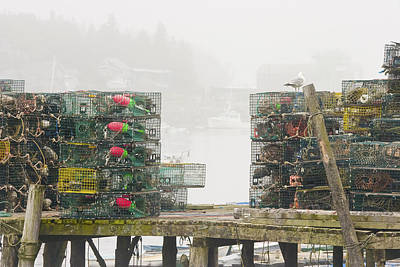 Bass Harbor Lobster Traps Maine  Poster by Keith Webber Jr