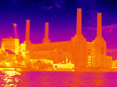 Battersea Power Station, Thermogram Poster by Tony Mcconnell