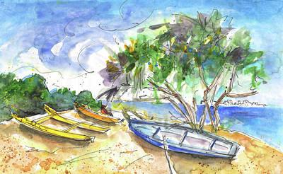 Beach In Ayia Napa Poster by Miki De Goodaboom