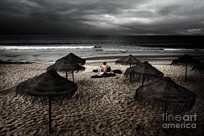 Beach Minstrel Poster by Carlos Caetano