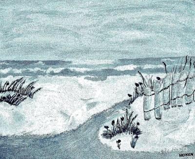 Beach Seashore Abstract Poster by Marsha Heiken