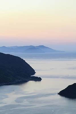 Beautiful View Of Sunset At Maurizia Poster by Naoto Shibata