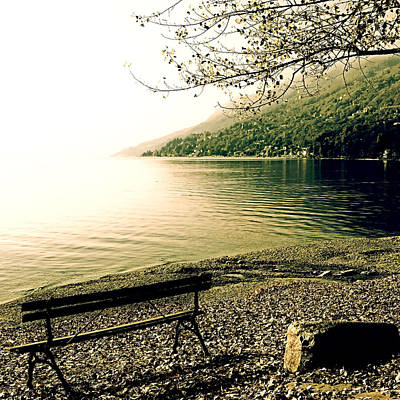 Bench In Autumn Poster by Joana Kruse