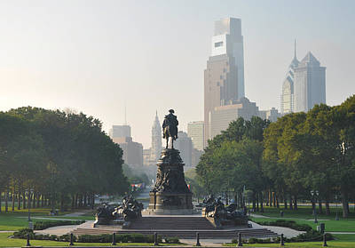 Benjamin Franklin Parkway Poster by Bill Cannon
