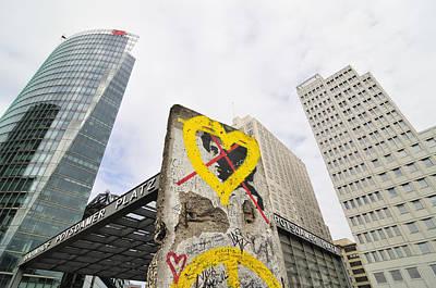 Berlin Wall Potsdam Square Potsdamer Platz Poster by Matthias Hauser