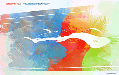 Bernd Rosemeyer Racing Poster by Naxart Studio