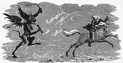 Bewick: Devil Poster by Granger