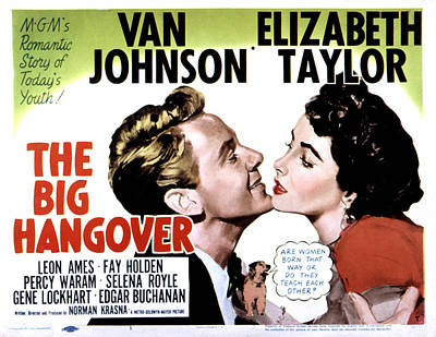 Big Hangover, Van Johnson, Elizabeth Poster by Everett