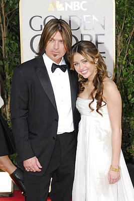 Billy Ray Cyrus, Miley Cyrus Wearing Poster by Everett