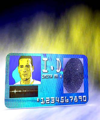 Biometric Identity Card, Artwork Poster by Christian Darkin