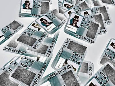 Biometric Identity Cards, Artwork Poster by Christian Darkin