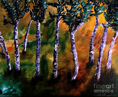 Birch Forest Poster by Ayasha Loya Aka Pari  Dominic