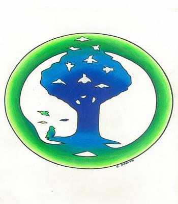 Birdland Creations Logo Blue N Green Poster by Steve Weber