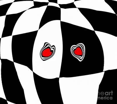Black White Red Art No.103. Poster by Drinka Mercep