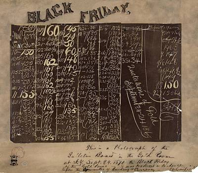 Black Friday Gold Prices, 1869 Poster by Library Of Congress