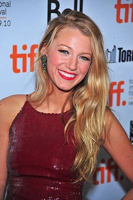 Blake Lively At Arrivals For The Town Poster by Everett