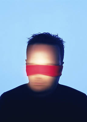 Blindfolded Man Poster by Cristina Pedrazzini