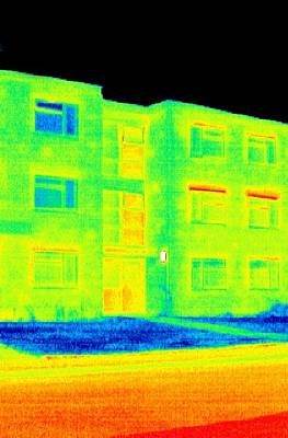 Block Of Flats, Thermogram Poster by Tony Mcconnell
