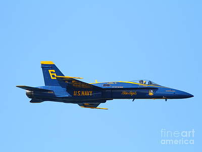 Blue Angels F-18 Super Hornet . 7d7948 Poster by Wingsdomain Art and Photography