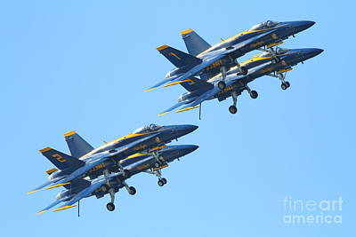 Blue Angels F-18 Super Hornet . 7d7978 Poster by Wingsdomain Art and Photography