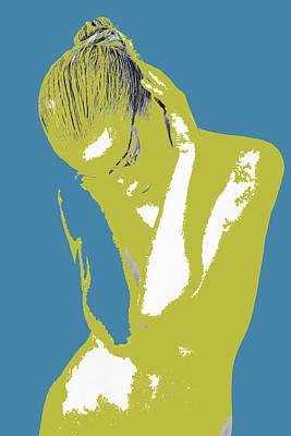 Blue Drama Poster by Naxart Studio