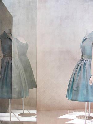 Blue Dress Poster by Martine Roch