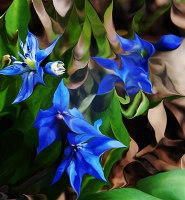 Blue Manipulation Poster by David Lane