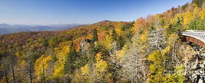 Blue Ridge Parkway In Autumn Poster by Dustin K Ryan