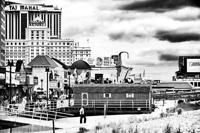 Boardwalk Casinos Poster by John Rizzuto