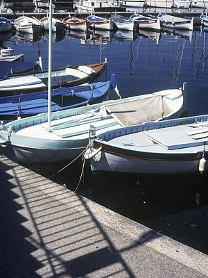 Boats In Harbor Poster by Axiom Photographic