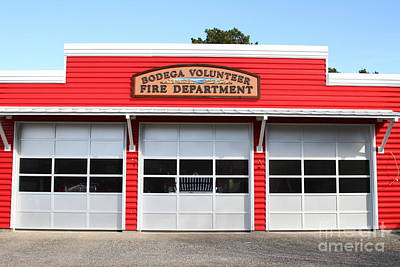 Bodega Volunteer Fire Department . Bodega Bay . Town Of Bodega . California . 7d12461 Poster by Wingsdomain Art and Photography