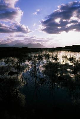 Bog Lake & Twelve Bens, Near Clifden,co Poster by The Irish Image Collection