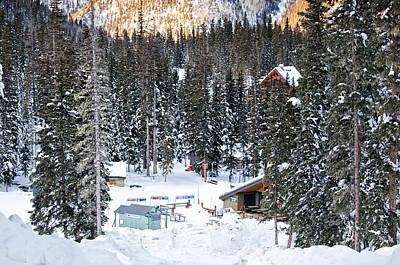Bottom Of Ski Slope Poster by Lisa  Spencer