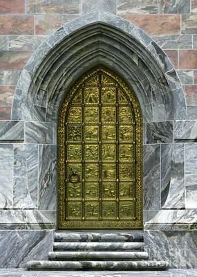 Brass Book Of Genesis Door Poster by Sabrina L Ryan