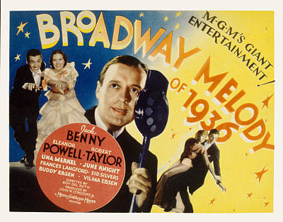 Broadway Melody Of 1936, Eleanor Poster by Everett