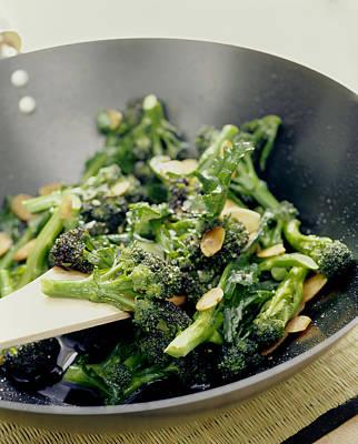 Broccoli Stir Fry Poster by David Munns