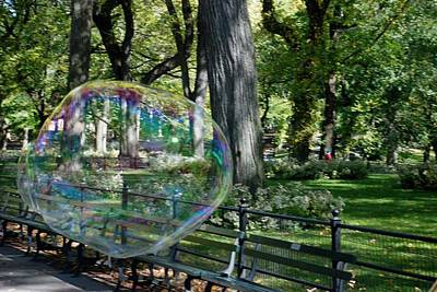 Bubble In The Park Poster by Rob Hans