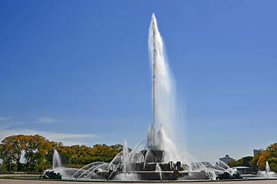 Buckingham Fountain - Chicago's Iconic Landmark Poster by Christine Till