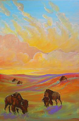 Buffalo Sunrise Poster by Jenn Cunningham