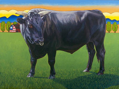 Bull Market Poster by Stacey Neumiller
